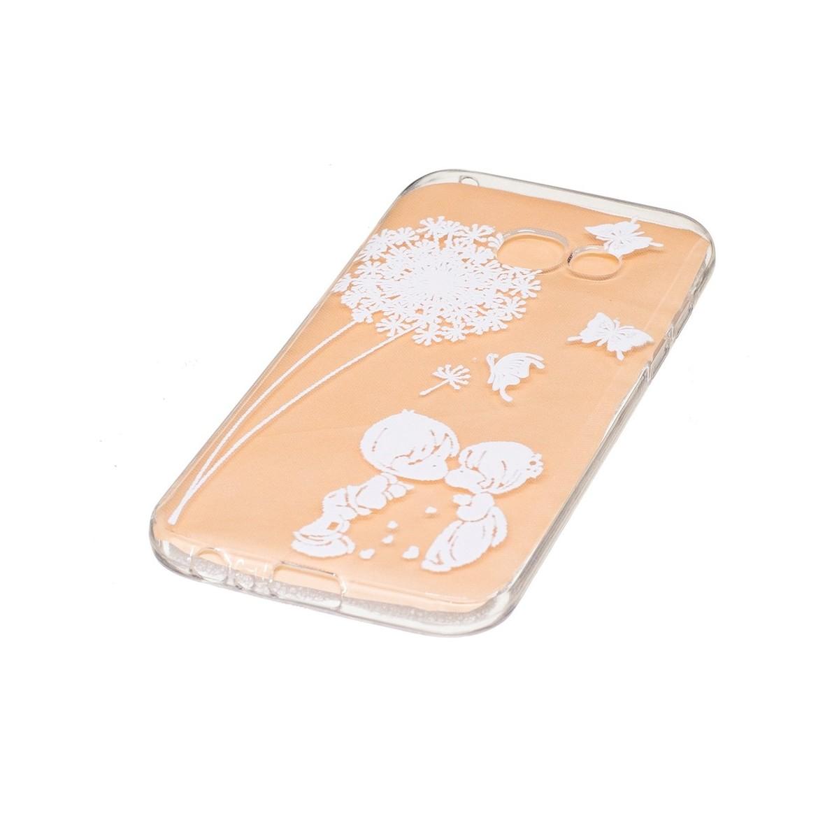 Coque Galaxy A3 (2017) Transparente souple motif Fleurs et Papillons Blancs - Crazy Kase
