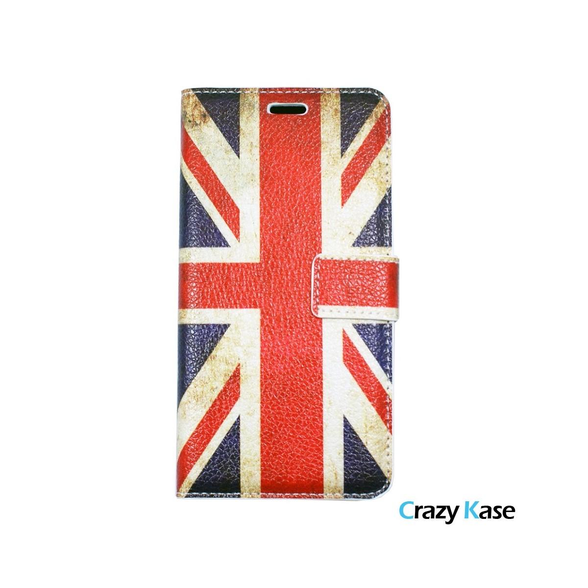 Etui Galaxy A5 (2016) motif Drapeau UK - Crazy Kase
