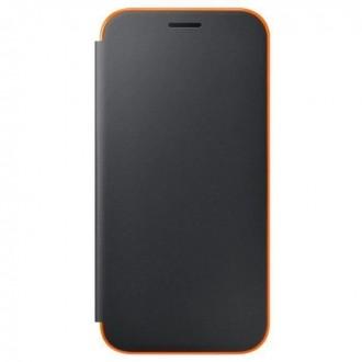 Etui folio néon Galaxy A3 (2017) Noir et orange - Samsung