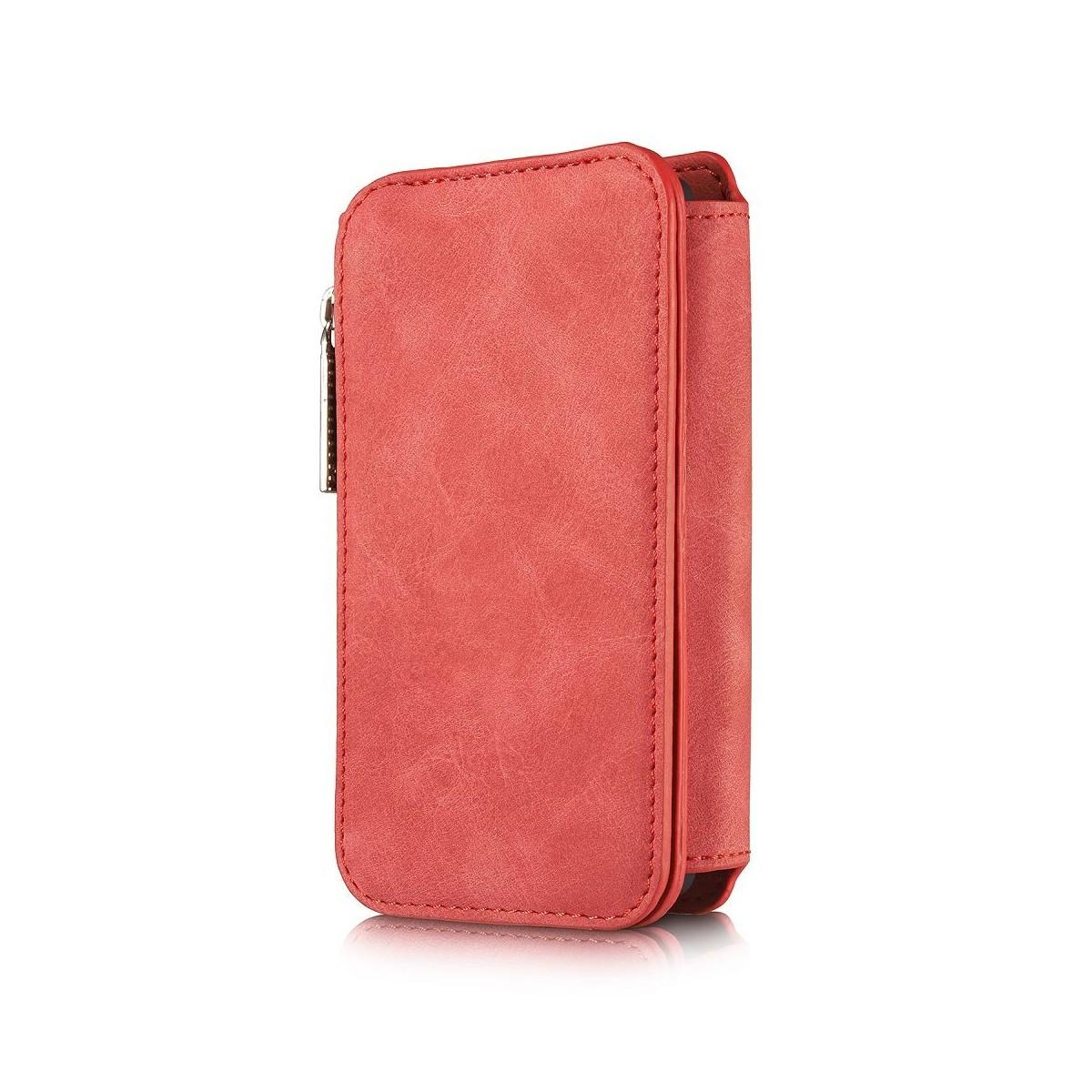 Etui iPhone SE / 5S / 5 Portefeuille multifonctions Rouge - CaseMe