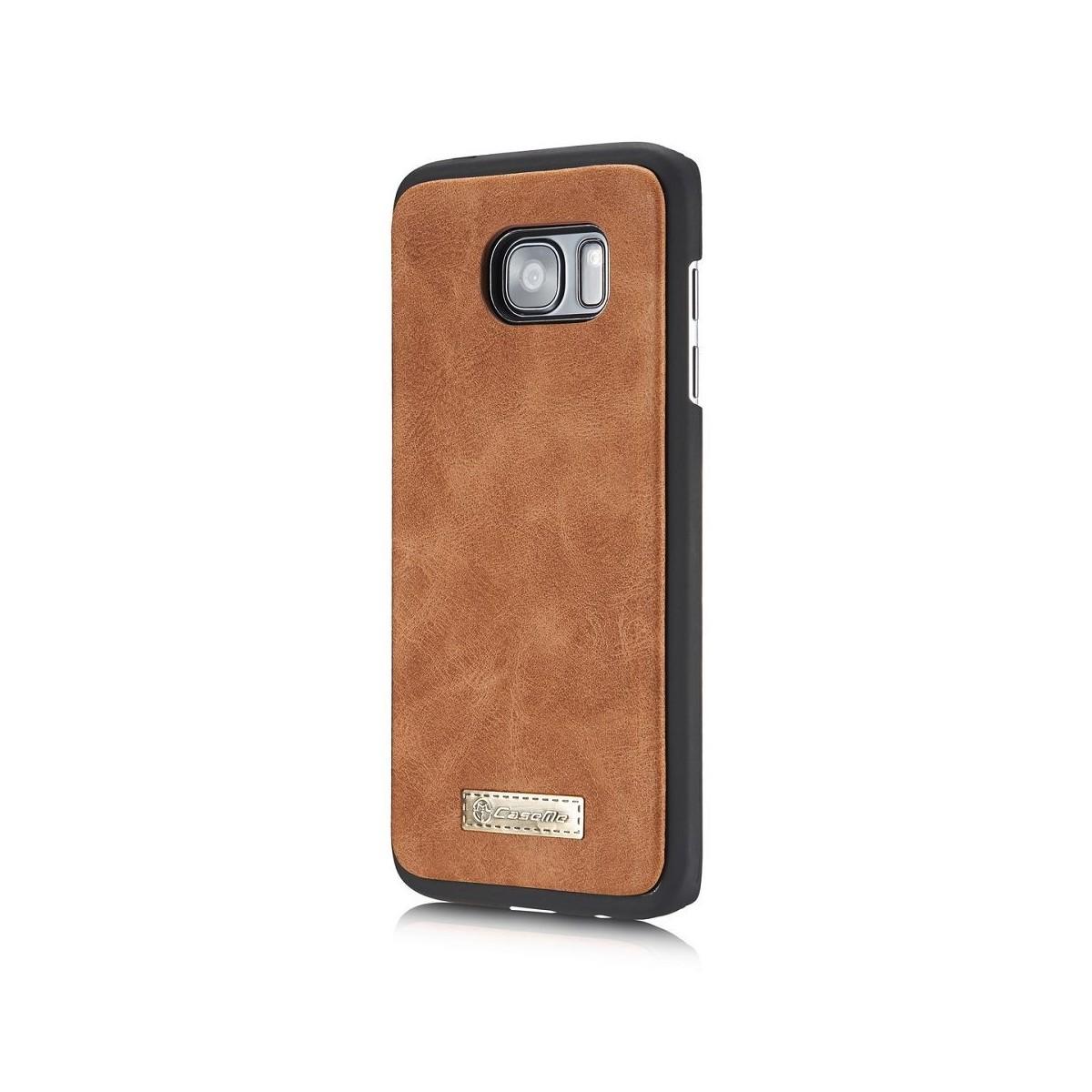 Etui Samsung Galaxy S7 Edge Portefeuille multifonctions Marron - CaseMe
