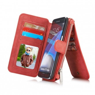 Etui Samsung Galaxy S7 Edge Portefeuille multifonctions Rouge - CaseMe