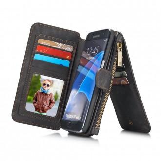 Etui Samsung Galaxy S7 Edge Portefeuille multifonctions Noir - CaseMe