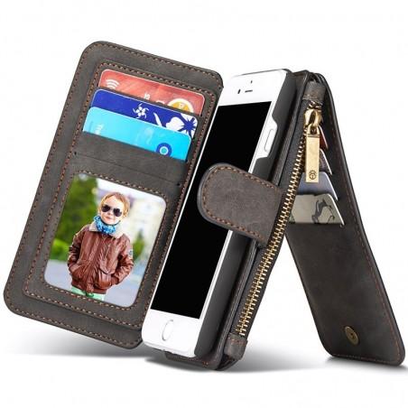 Etui Iphone 7 Portefeuille multifonctions Noir - CaseMe