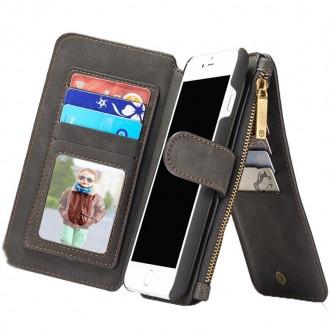 Etui iPhone 8 Plus/7 Plus Portefeuille multifonctions Noir - CaseMe