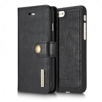 Etui Iphone 7 Portefeuille multifonctions Noir - DG MING