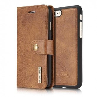 Etui Iphone 7 Portefeuille Marron - DG MING