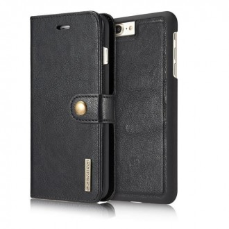 Etui Iphone 7 Plus Portefeuille  Noir - DG MING