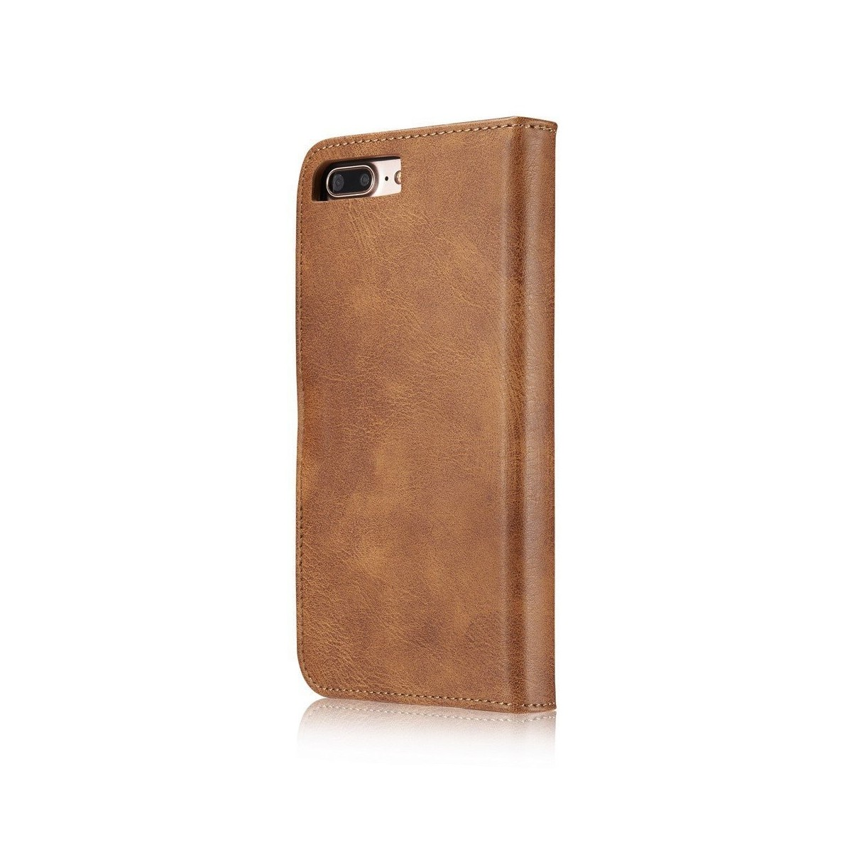 Etui Iphone 7 Plus Portefeuille  Marron - DG MING