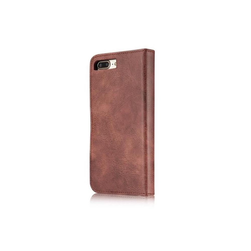 Etui Iphone 7 Plus Portefeuille Rouge - DG MING