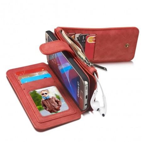 Etui Samsung Galaxy S7 Portefeuille multifonctions Rouge - CaseMe