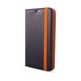 Etui Smartphone Universel 4.6 à 5.1 pouces porte-carte noir et orange- Taille L - Moleskine
