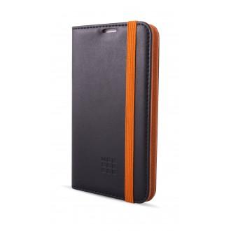 Etui Smartphone Universel 4 à 4.5 pouces porte-carte noir et orange - Taille M - Moleskine