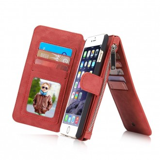 Etui iPhone 6/6s Portefeuille multifonctions Rouge - CaseMe