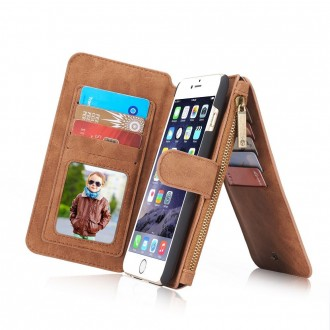 Etui iPhone 6/6s Portefeuille multifonctions Marron - CaseMe