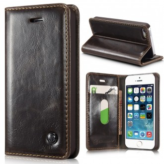 Etui iPhone SE / 5S / 5 Portefeuille Marron - CaseMe