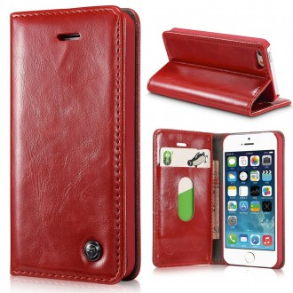 Etui iPhone SE / 5S / 5 Portefeuille Rouge - CaseMe