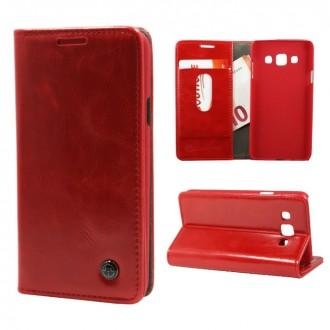 Etui Samsung Galaxy A3 Portefeuille Rouge- CaseMe