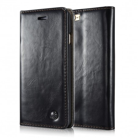 Etui iPhone 6 Portefeuille Noir- CaseMe