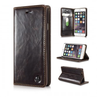 Etui iPhone 6 Portefeuille Marron - CaseMe
