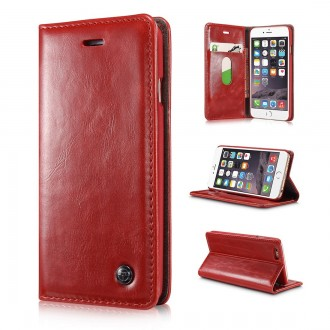 Etui iPhone 6 Portefeuille Rouge - CaseMe