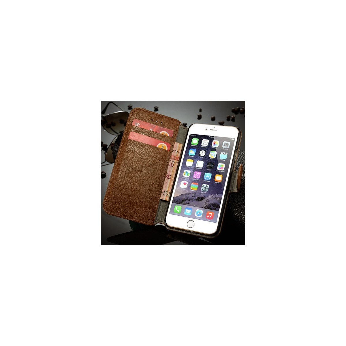 Etui Book type bleu nuit pour iPhone 6 Plus - CaseMe
