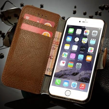 Etui Book type bleu nuit pour iPhone 6 - CaseMe
