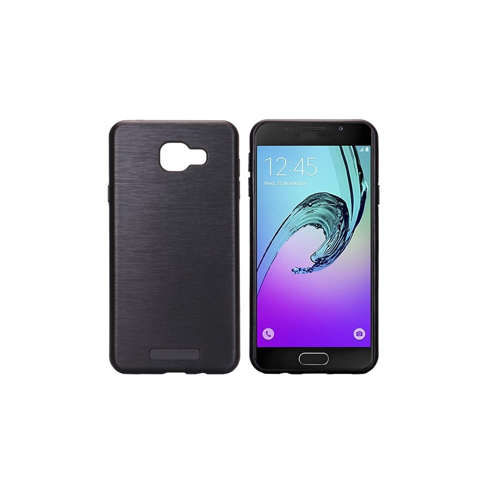 Coque Galaxy A5 (2017) bi-matière noire effet brossé - Crazy Kase