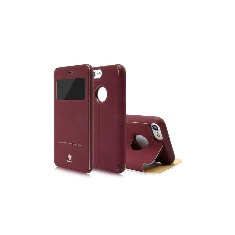 coque portefeuille pour iphone 8 avec fenetre