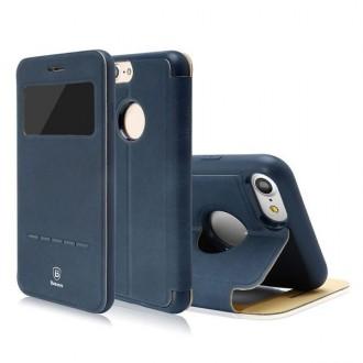 Etui iPhone 7 avec fenêtre de visualisation Bleu Marine - Baseus