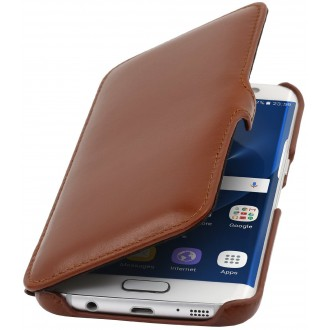 Etui Galaxy S7 Edge en cuir véritable cognac  - Stilgut