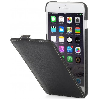 Etui iPhone 6 Plus/ 6s Plus ultraslim en cuir véritable noir - Stilgut
