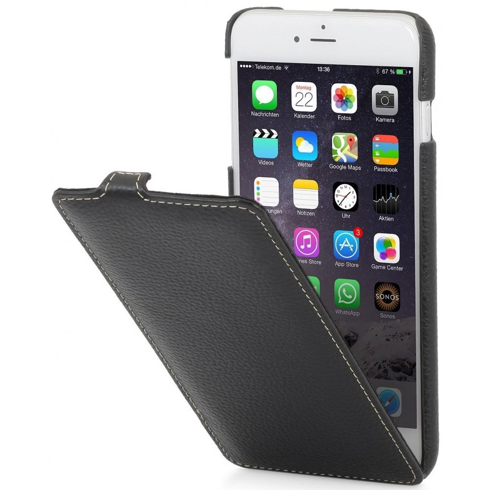 Etui iPhone 6 Plus/ 6s Plus ultraslim en cuir véritable noir - Stilgut