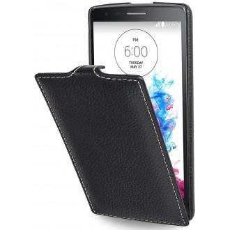 Etui LG G3s UltraSlim en cuir véritable noir - Stilgut