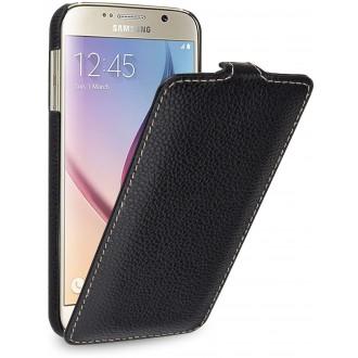 Etui Samsung Galaxy S6 UltraSlim noir en cuir véritable - Stilgut