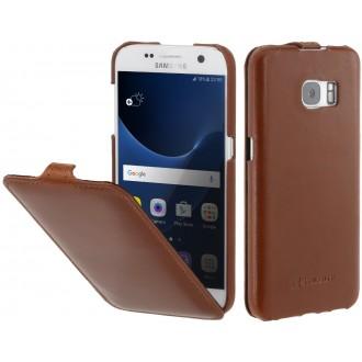 Etui Samsung Galaxy S7 UltraSlim cognac en cuir véritable - Stilgut