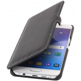 Etui Samsung Galaxy A5 (2016) Book Type noir nappa en cuir véritable - Stilgut