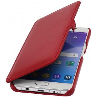 Etui Samsung Galaxy A5 (2016) Book Type rouge nappa en cuir véritable - Stilgut