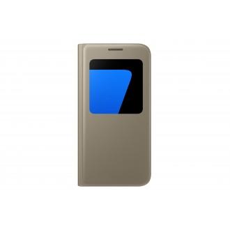 Etui Galaxy S7 Doré avec fenêtre de visualisation - Samsung