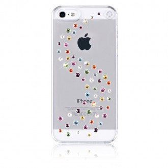 Coque iPhone SE / 5S /5 Milkyway strass mixtes Coton Candy Swarovski - Bling My Thing