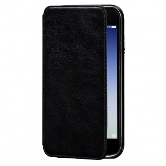 Etui iPhone 7 en cuir véritable Porte cartes noir - Sena Cases
