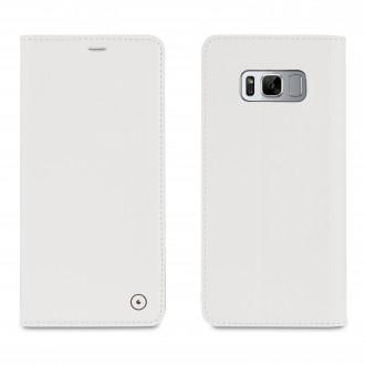 Etui Samsung Galaxy S8 Portefolio élégant blanc - Muvit