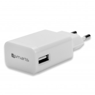 Chargeur secteur USB universel blanc 2A - 4smarts