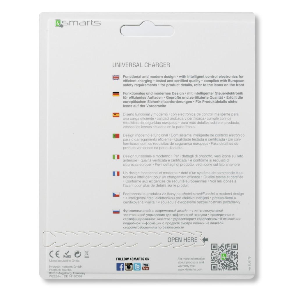 Chargeur secteur USB universel blanc - 4smarts