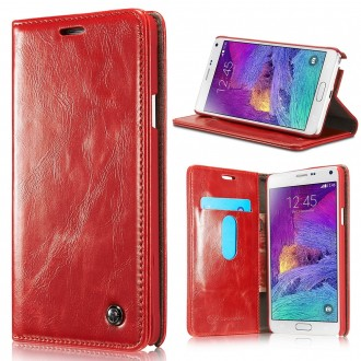 Etui Samsung Galaxy Note 4 Portefeuille Rouge - CaseMe