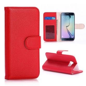Etui Samsung Galaxy S6 Edge Book type rouge - Crazy Kase