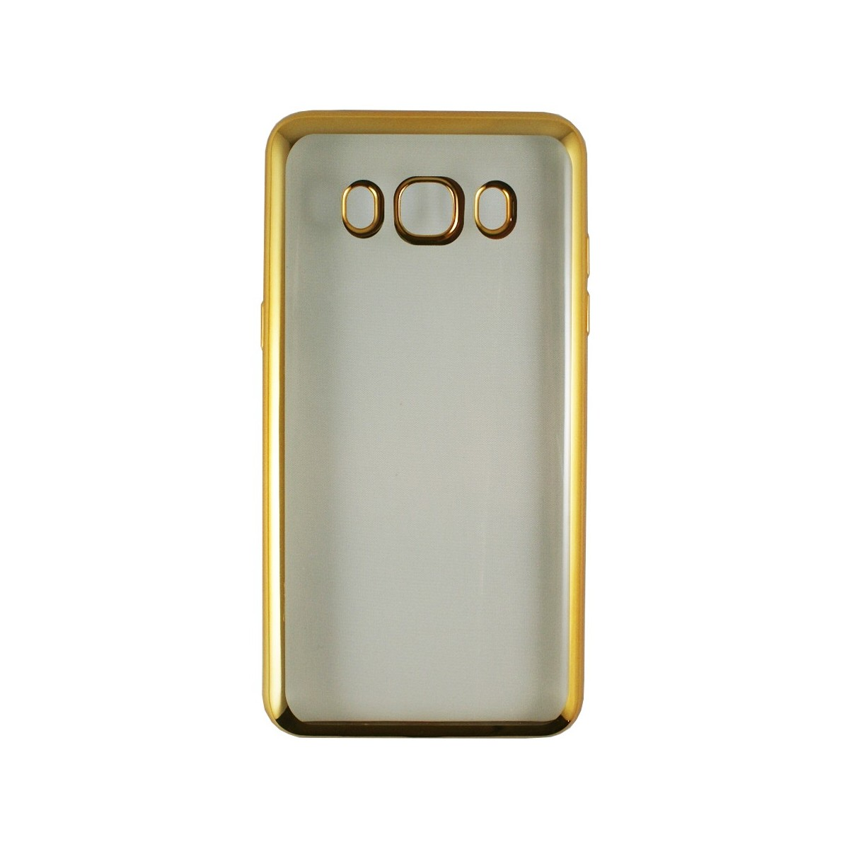 Coque Galaxy J5 (2016) Transparente souple contour doré + Verre trempé - Crazy Kase