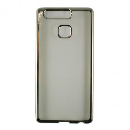 Coque Huawei P9 Transparente souple contour argenté - Crazy Kase
