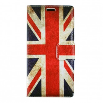 Etui Galaxy J5 (2016) motif Drapeau UK grainé- Crazy Kase