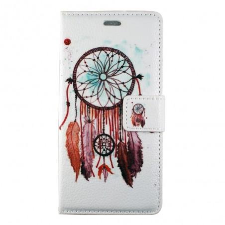 Etui Huawei P8 Lite motif Attrape rêves marron - Crazy Kase